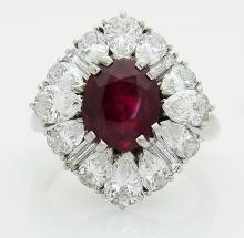 Cartier Plat 3.5 VVS clarity E-F Diamond & Rudy Ring