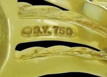 David Yurman 18k Gold Diamond Sapphire Topaz Aquamarine Ring