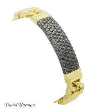 David Yurman Madison 18k Yellow Gold & 3.30 TCW Black Diamond Bracelet