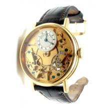 BREGUET TRADITION 18K YELLOW GOLD SKELETON WATCH