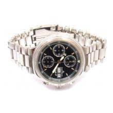 BAUME & MERCIER STAINLESS STEEL AUTOMATIC CHRONOGRAPH FORMULA WATCH