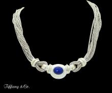 Tiffany & Co. 18k Gold 925 Sterling Silver & Lapis