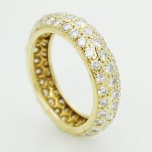Estate Cartier Bombe 780 Yellow Gold 1.50CT Pave