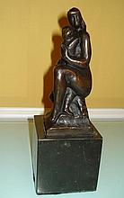 WILLIAM ZORACH AMERICAN BRONZE SCULPTURE