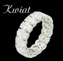 Kwiat Plat 950 6.50 Ct TCW Oval Diamond Wedding Band