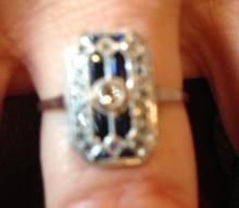 18kt/platinum edwardian ring