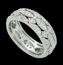 18k Gold & 1.00 TCW VS G Diamond Eternity Band Openwork