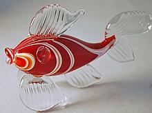 MURANO SYLE FLASS FISH