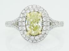 Tiffany & Co Soleste Plat 950 & 18k Gold  Yellow Diamond Ring
