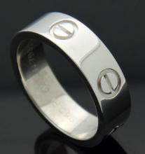 Cartier Platinum 950 Love Wedding Band Ring Size 6.25 with Cartier Box