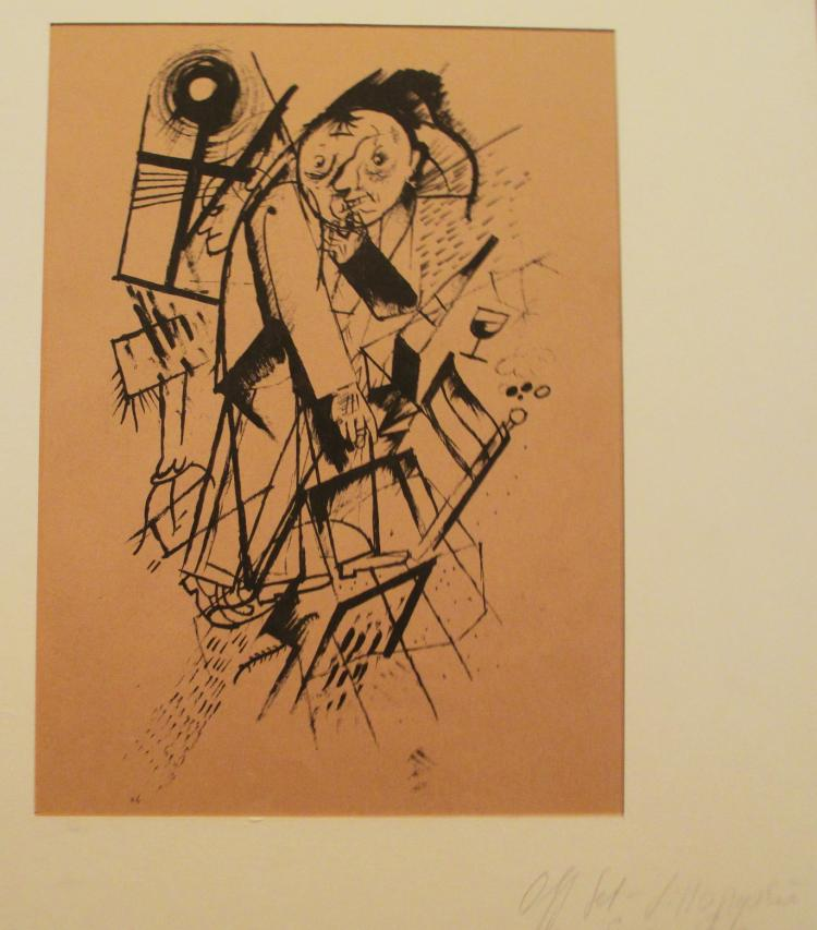 GEORGE GROSZ ECCE HOMO OFF SET LITHOGRAPH
