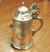 Sazikov Large Russian silver stein Tankard