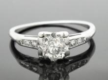 ANTIQUE ORANGE BLOSSOM 0.75CT DIAMOND ENGAGEMENT RING