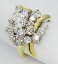 Bailey Bank Biddle 18K 3TCW Diamond Engagement Ring