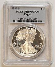 1989S American Eagle Silver Dollar PCGS PR69 DCAM
