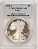 1991S American Eagle Silver Dollar PCGS PR69 DCAM
