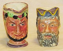 Four English Character Mugs & Creamers