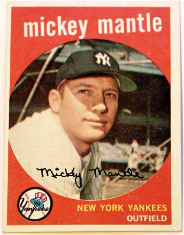 1959 Toppa Mickey Mantle Card SGC 84 NM 7