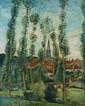 Constantin TERECHKOVITCH (1902-1978)   Ousson-sur-Loire, 1930  Huile sur toile   Signée, située et datée en bas à droite   81 x 65 cm   8 000/10 000