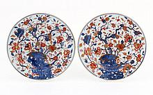 PAIR OF LARGE PLATES