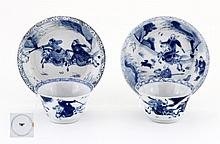 PAIR OF CUPS AND SAUCERS