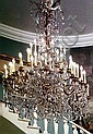 EXCEPTIONAL FRENCH FIFTY LIGHT CHANDELIER 19TH CENTURY.