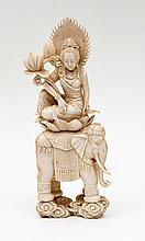 FIGURE OF AN INDIAN WOMAN WITH AN ELEPHANT
