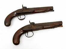 PAIR OF TRAVEL PISTOLS