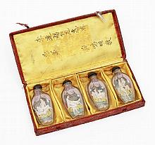 SET OF 4 EROTIC SNUFF FLASKS