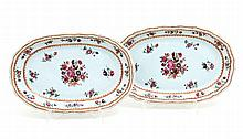 PAIR OF CUT OUT OVAL PLATTERS