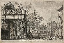 GIOVANNI BATTISTA PIRANESI (1720-1778), VIEW OF A TEMPLE