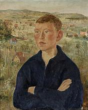 IRÈNE ZURKINDEN (1909-1987), BOY IN A SCENERY