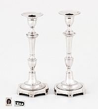 PAIR OF D. MARIA CANDLESTICKS