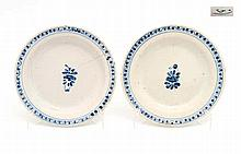 PAIR OF SMALL DISHES