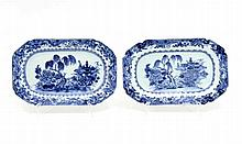 PAIR OF LOBED SMALL PLATTERS