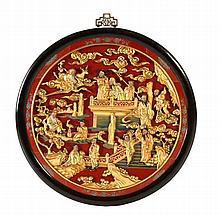 CHINESE SCHOOL, 19TH/20TH CENTURY, GARDEN WITH IMMORTALS AND OTHER FIGURES