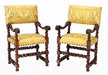 IMPORTANT AND RARE PAIR OF ARMCHAIRS