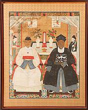 CHINESE SCHOOL, 19TH CENTURY, MANDARINS