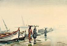 MANUEL TAVARES (1911-1974), LISBON FISH SELLERS