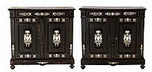 PAIR OF LOW CABINETS