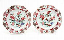PAIR OF OCTOGONAL PLATES