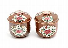 PAIR OF POTICHES WITH LIDS