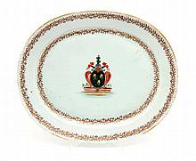LARGE PLATTER WITH COAT OF ARMS