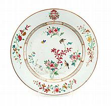 LARGE PLATE WITH COAT OF ARMS