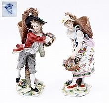 PAIR OF FIGURES - FLOWER POT