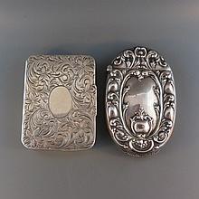 2 Sterling Silver Match Safes,