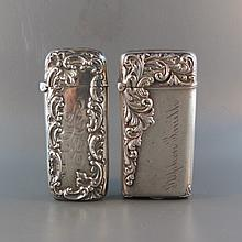 2 Victorian Sterling Silver Match Safes,
