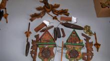 Vintage Cuckoo Clock Parts in Box