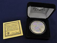 2000 1 oz. US Silver Eagle Hologram Enhanced