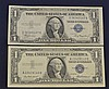 2 Blue Seal $1.00 Silver Certificates
